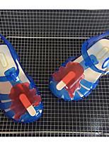 Girls' Sandals Comfort PVC Summer Casual Comfort Blue Ruby White Flat