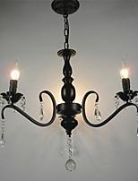 Хрустальная люстра европейский стиль кованое железо гостиная лампа творческая личность спальня ресторан свеча лампы и фонари