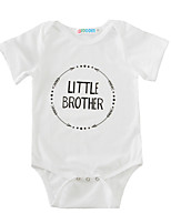 Baby Print One-Pieces Cotton Summer Short Sleeve White Baby Boys Girls Romper Bodysuits for Boys