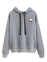 Men's Casual Hoodie Solid Hooded Inelastic Cotton Long Sleeve Fall