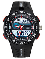 Men's Sport Watch Fashion Watch Digital Water Resistant / Water Proof Stopwatch Rubber Band Black Blue Red