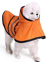 Dog Rain Coat Dog Clothes Casual/Daily Solid Blue Orange