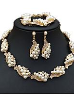 Femme Chaînes & Bracelets Boucles d'oreille goutte Colliers chaînes Perle imitée StrassBasique Original Stras Perle Amitié Bijoux de Luxe
