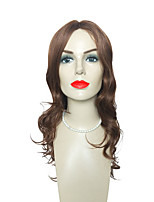 Brown Synthetic Wig Long Deep Wave Heat Resistant Hairstyle Costume Wig For Women