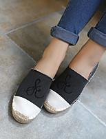 Для женщин Мокасины и Свитер Удобная обувь Натуральная кожа Весна Повседневные Удобная обувь Черный Синий На плоской подошве