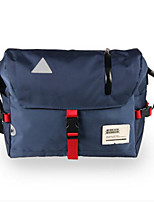 Men Shoulder Bag Polyester All Seasons Casual Outdoor Round Zipper Blue