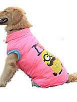Dog Vest Dog Clothes Casual/Daily Cartoon Blushing Pink Yellow
