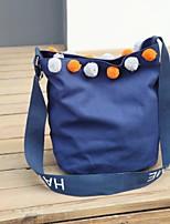 Damen Umhängetasche Leinwand Ganzjährig Normal Einkaufstasche Magnetisch Blau Weiß Schwarz Rosa