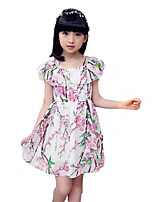 Girl's Fashion Floral Flower Dress,Cotton Polyester Summer Sleeveless