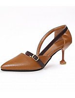 Women's Heels Comfort Spring Summer PU Casual Beige Light Brown 2in-2 3/4in