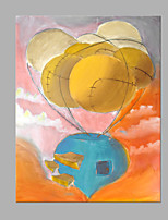 IARTS® Hand Painted Modern Abstract Flying Airballoon Oil Painting On Canvas with Stretched Frame Wall Art For Home Decoration Ready To Hang