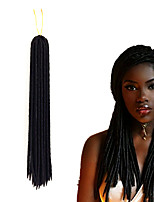 Faux Locs Synthetic Hair Crochet Braids 14inch 18inch 90g Kanekalon hair extension