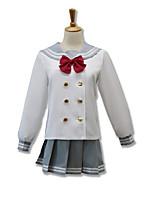 Costumes Cosplay Cosplay Hauts / Bas Plus d'accessoires Inspiré par Aime la vie Cosplay Manga Accessoires de Cosplay Cache-col Haut Jupe