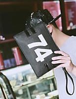 Men Clutch PU All Seasons Casual Outdoor Envelope Zipper Black