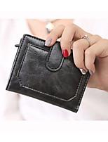 Women Money Clip PU All Seasons Casual Square Zipper Green Purple Black