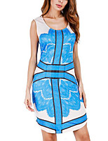 Women's Plus Size Street chic Swing Dress,Solid V Neck Midi Sleeveless Knitwear Summer Mid Rise Micro-elastic Medium