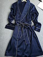 Women's Robes Satin & Silk Nightwear,Sexy Solid-Medium