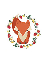 Wall Stickers Wall Decas Style Cartoon Fox PVC Wall Stickers