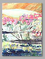 Hand-Painted Still Life Vertical,Vintage One Panel Canvas Print For Home Decoration