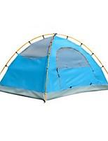 2 personnes Tente Double Tente pliable Une pièce Tente de camping >3000mm Aluminium Térylène Etanche Résistant à la poussière Pliable-