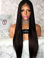 8A Grade Lace Front Wigs Human Hair Straight for Black Woman 100% Unprocessed Brazilian Virgin Hair Glueless Lace Wig with Baby Hair