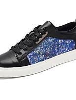 Для мужчин Кеды Удобная обувь Полиуретан Весна Лето Повседневные На низком каблуке Черный Красный Менее 2,5 см