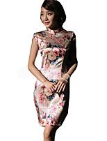Un Pezzo/Vestiti Lolita Classica e Tradizionale Ispirazione Vintage Cosplay Vestiti Lolita Con stampe Vintage Senza manicheAbito