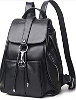 Women Bags All Seasons Cowhide Backpack with for Casual Blue Brown Black Red