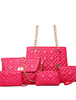 Women Bags All Seasons PU Tote with for Casual Office & Career Blue Gold Black Red