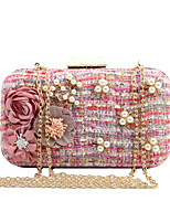 L.WEST Woman Fashion Luxury High-grade Woven Flowers Evening Bag
