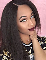 8A Grade Kinky Straight Lace Front Human Hair Wigs with Bbay Hair 130% Density Brazilian Virgin Hair Glueless Lace Wig Yaki Straight for Black Woman