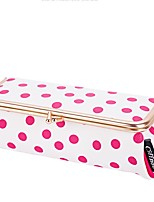 Women Cosmetic Bag PU All Seasons Casual Baguette Zipper Fuchsia Blue