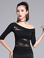 Latin Dance Tops Women's Training Modal Lace 1 Piece Half Sleeve Tops