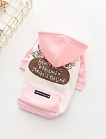 Hund Kapuzenshirts Hundekleidung Lässig/Alltäglich Buchstabe & Nummer Gelb Rosa