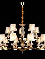 Pendant Light Zinc Alloy Feature for Crystal Mini Style Metal Indoors Hallway Shops/Cafes 15 Bulbs