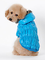 Dog Coat Dog Clothes Casual/Daily Solid Black Coffee Red Blue