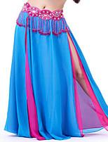 Danza del Vientre Mujer Actuación Acrílico Detalles en Cristal 1 Pieza Cintura Alta Faldas