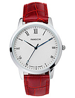Men's Dress Watch Fashion Watch Quartz Calendar Water Resistant / Water Proof Leather Band Black White Blue Red Brown