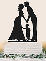 Factory direct selling acrylic bride and groom cake wedding cake decoration