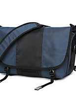 Men Shoulder Bag Polyester All Seasons Casual Outdoor Round Zipper Black