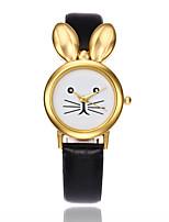 Жен. Детские Модные часы Уникальный творческий часы Китайский Кварцевый PU Группа Креатив Элегантные часыЧерный Белый Красный Коричневый