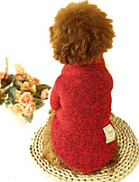 Dog Sweater Dog Clothes Casual/Daily Solid Green Ruby Coffee Gray