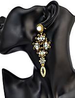 Women's Drop Earrings Drop Earrings 2 Colors Over Size Fashion Long Rhinestone Luxury Drop Dangle Hook Charm Earrings For Women Gift Jewelry