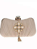 L.WEST Woman's fashionable pearl Ruffle fringed dress bag