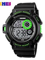 SKMEI Homens Relógio Esportivo Relogio digital Digital PU Banda Preta