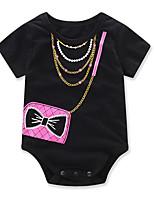 малыш 1 предмет Хлопок Мода геометрический С принтом Лето С короткими рукавами