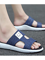 Men's Slippers & Flip-Flops Comfort Denim Spring Casual Comfort Light Grey Dark Grey Navy Blue Flat