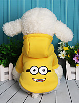 Dog Sweatshirt Dog Clothes Casual/Daily Cartoon Purple Yellow Red Blue