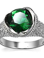 Damen Ringformen Bandringe Ring Kubikzirkonia StrassBasis Kreisförmiges Einzigartiges Design Strass Freundschaft Elegant Sexy Modisch