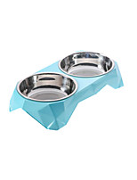 Cat Dog Bowls & Water Bottles Pet Bowls & Feeding Wateproof Portable Durable Blue Ruby